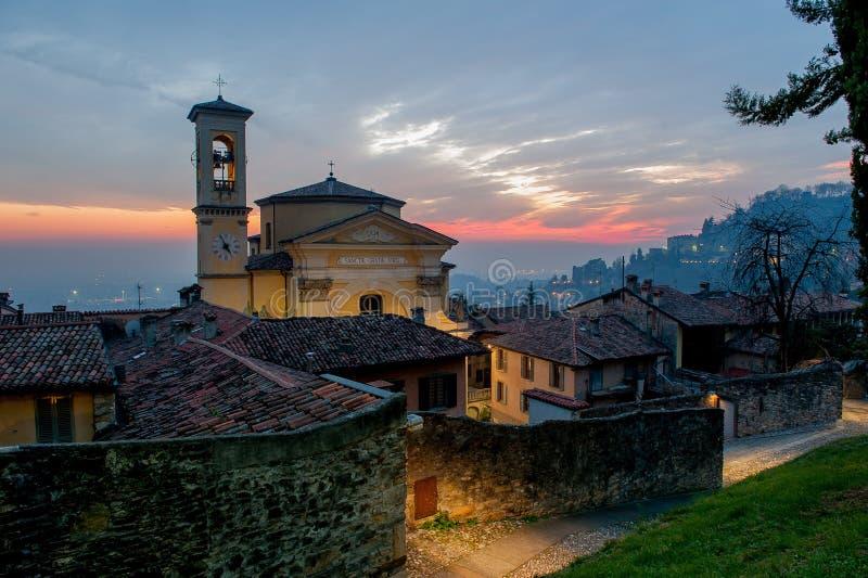 Bergamo church stock photos