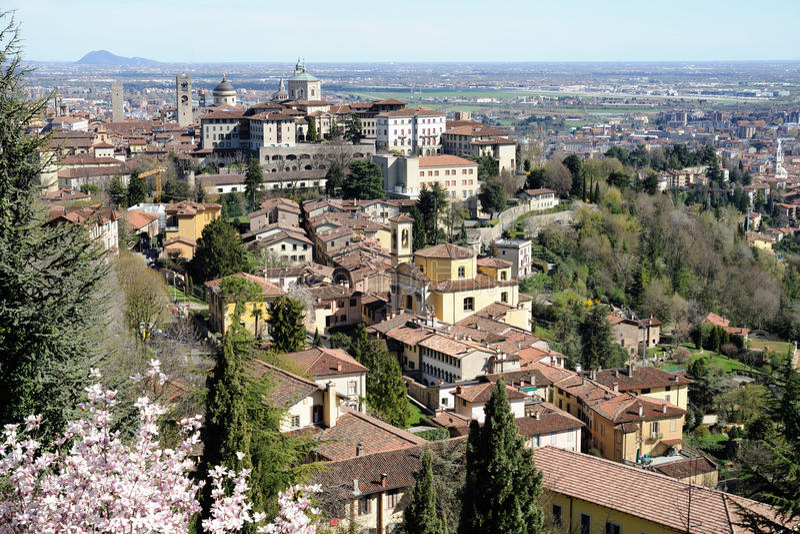 Bergamo, Citt Alta, Lombardije, Italië royalty-vrije stock foto