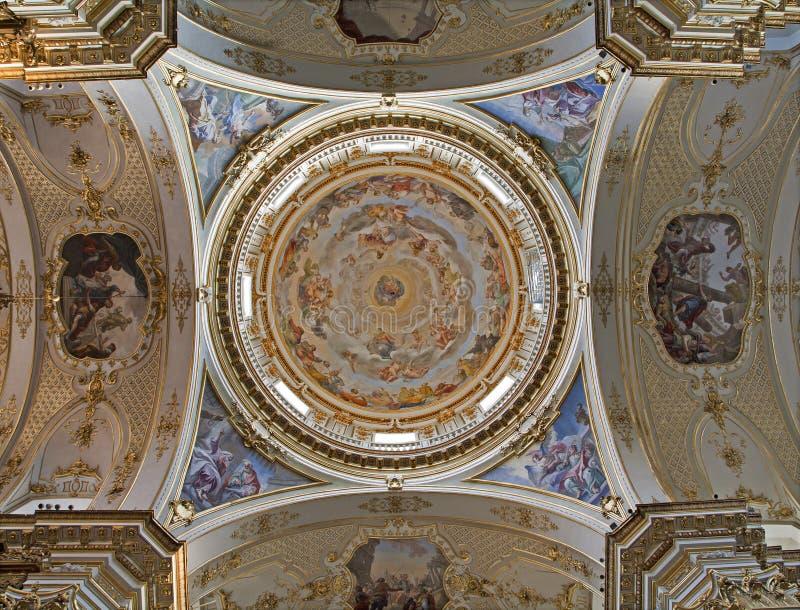 Bergamo - Cupola of Dom. On January 26, 2013 in Bergamo, Italy stock image