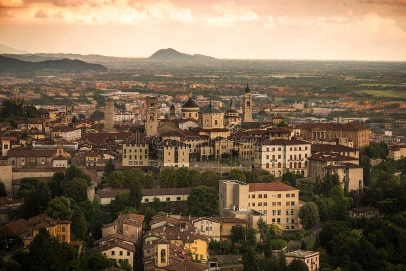 Bergamo From Funicular stock image