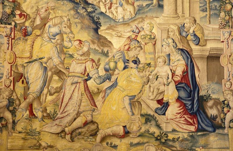 Download Bergamo - Gobelin Ot Three The Magi - Santa Maria Maggiore Stock Image - Image: 29091899