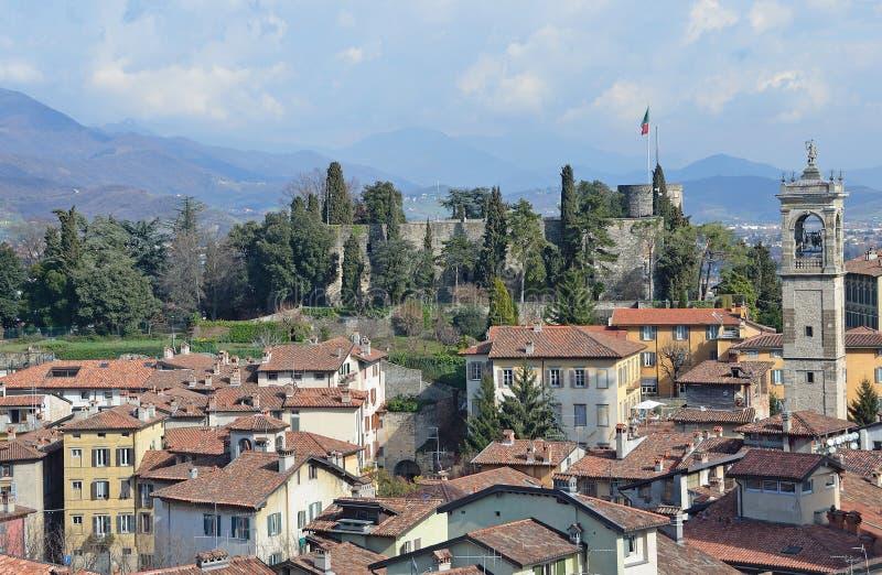 Bergamo, Italy, March, 14, 2013, Views of ancient city Bergamo stock photo