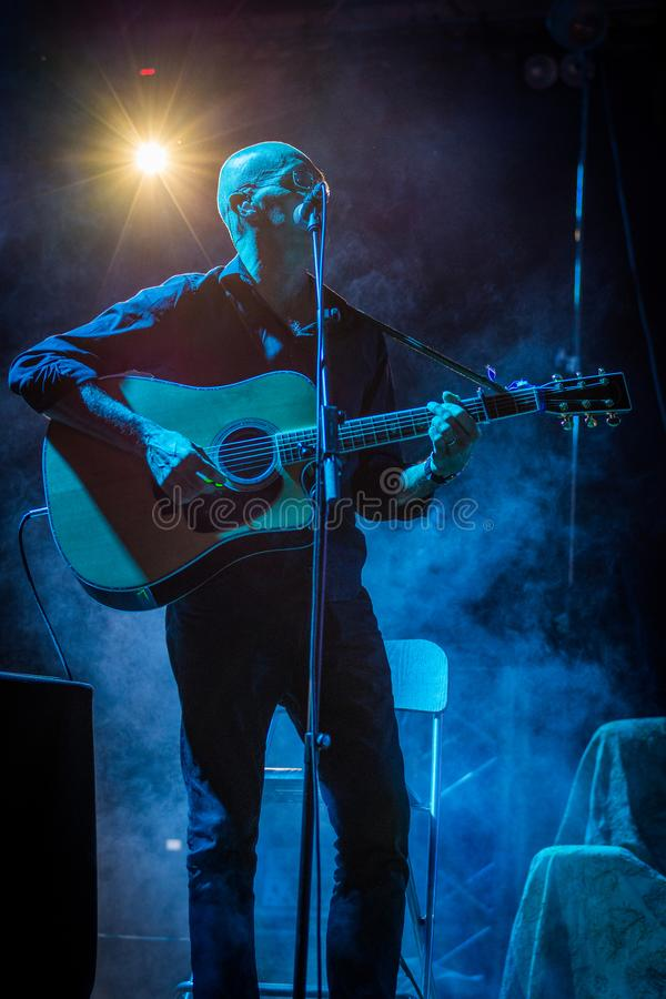 Irene Grandi and Pastis live at Rock sul Serio BG 23-07-2017. Bergamo, Italy. 23st July 2017. Italian singer Irene Grandi performs at the Rock sul Serio festival royalty free stock image
