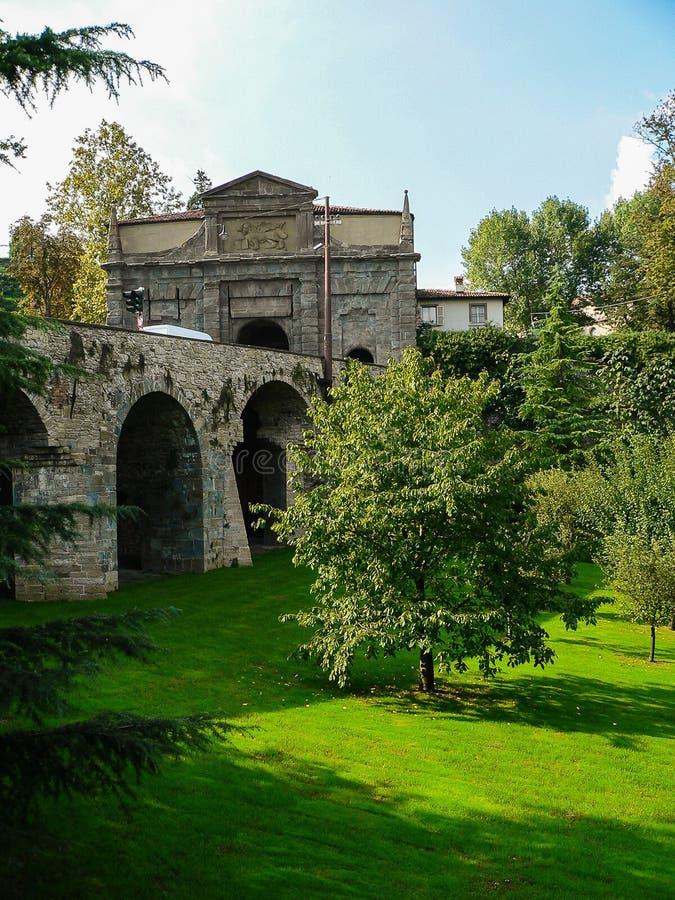 Bergamo L'Italia immagini stock