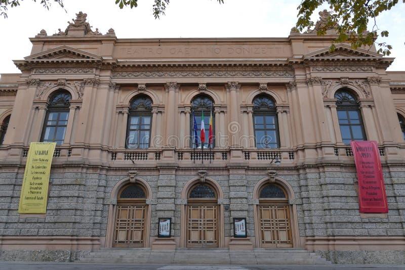Bergamo - Donizetti Theatre. Bergamo, Lombardy, Italy - Donizetti Theatre along The Sentierone stock photo