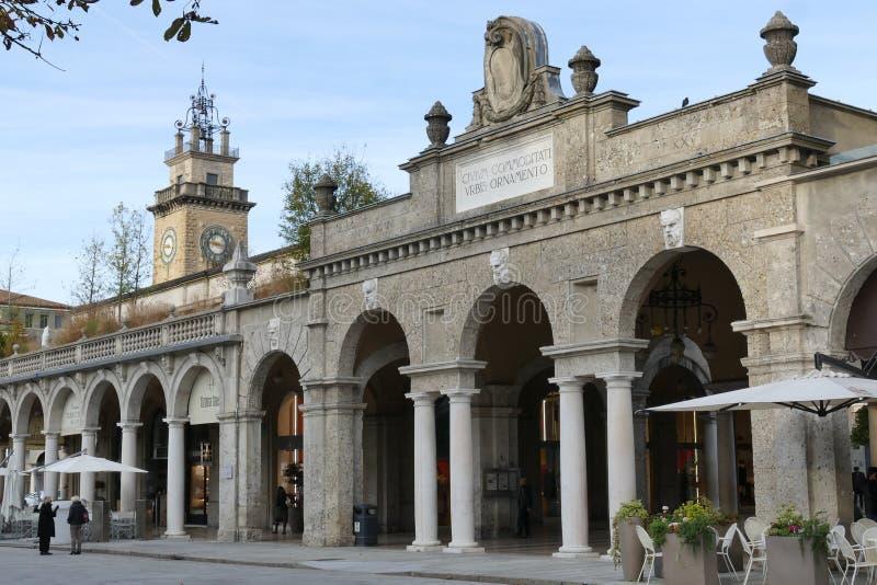 Bergamo - The Sentierone. Bergamo, Lombardy, Italy - The Sentierone, the shopping and relax road of Bergamo royalty free stock photos