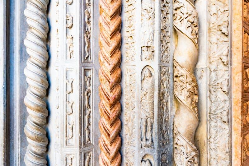 Bergamo, Lombardy Włochy, Jan 25 2019, -: Wnętrze bazylik di Santa Maria Maggiore Świątobliwy Mary Ważny Katedra jest romańszczyz zdjęcie royalty free