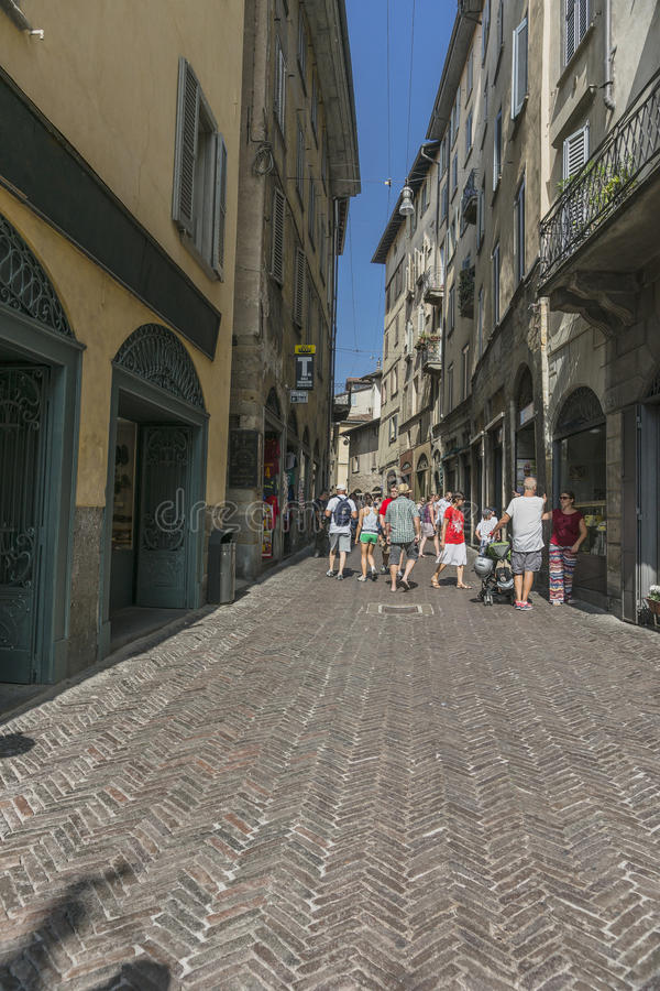 Bergamo Old City stock images