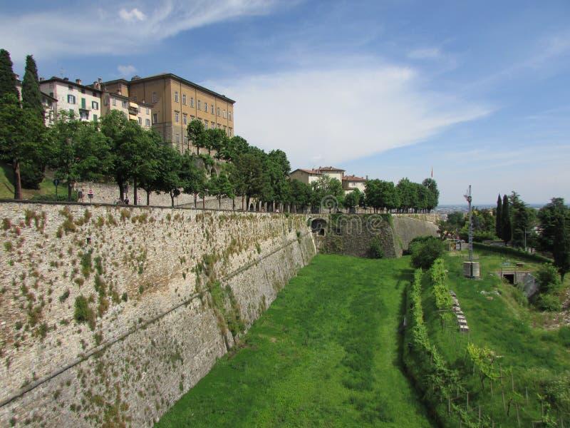 Bergamo Wysoki miasto obrazy stock