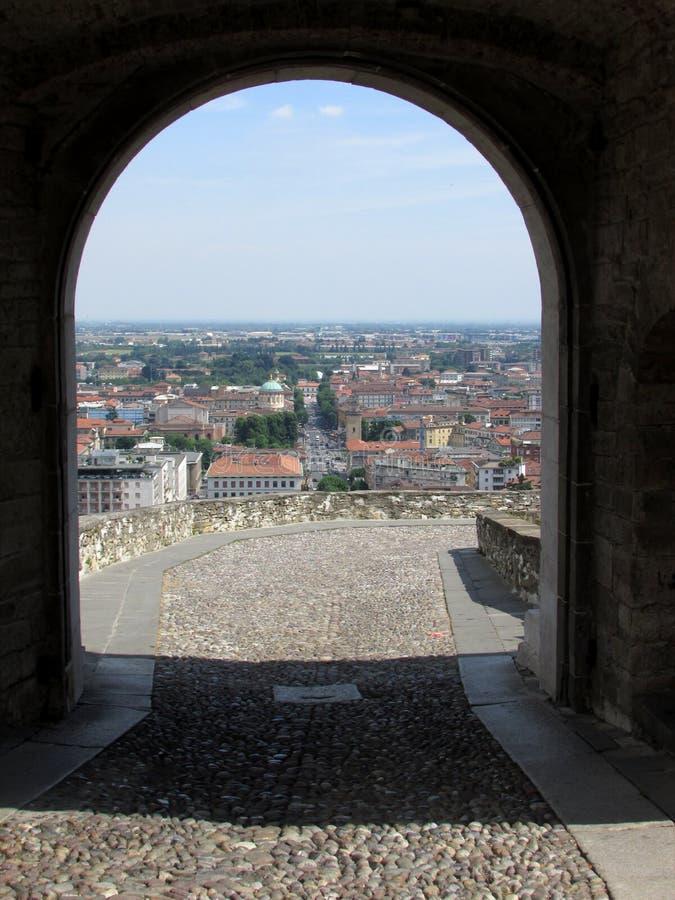 Bergamo Wysoki miasto fotografia stock