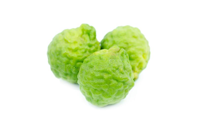 Bergamot isolated on white background with clipping path.  royalty free stock photo
