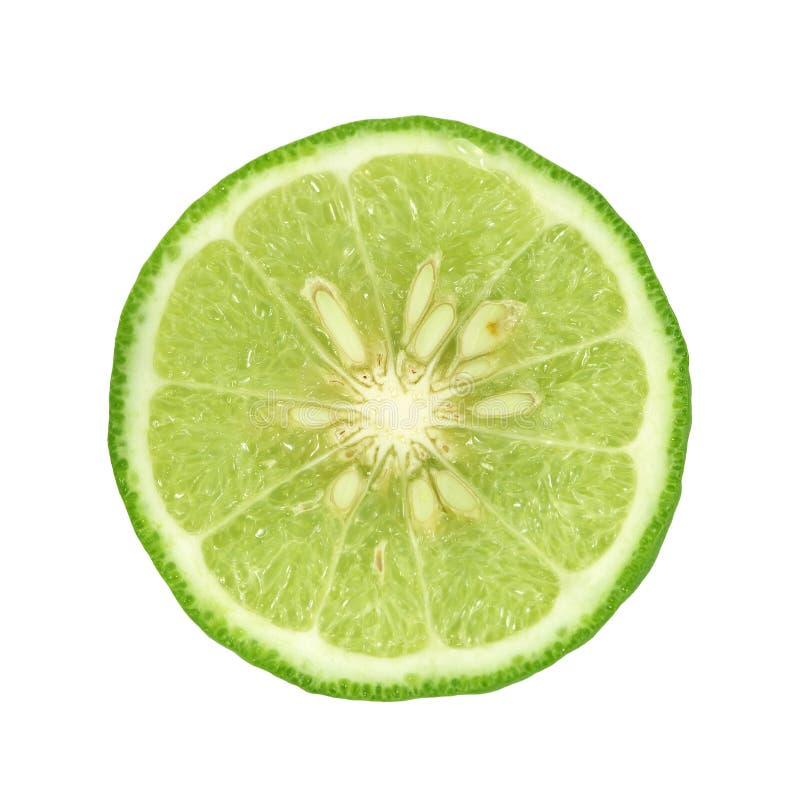 The Bergamot[Kaffir lime] isolate on whit background. Bergamot[Kaffir lime] isolate on whit background stock photo