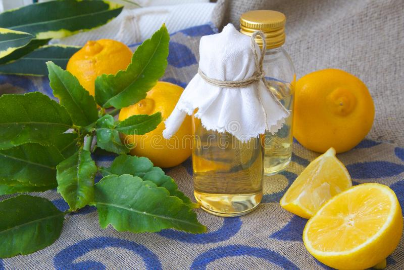 Bergamot oil stock images