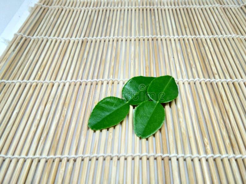 Bergamota verde na prancha imagens de stock royalty free