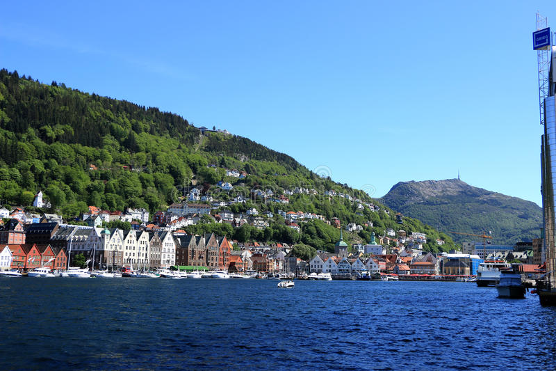 Bergan Noruega foto de stock