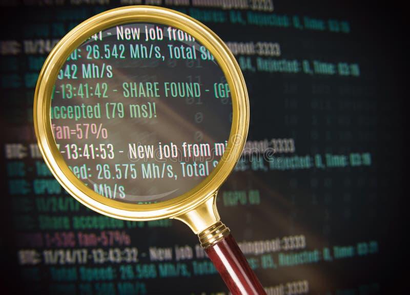 Bergbau cryptocurrency Hintergrund Bitcoin stockbilder