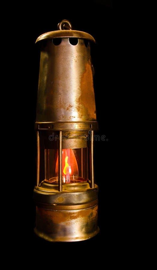 Bergbau-Sicherheitslampe lizenzfreie stockfotografie