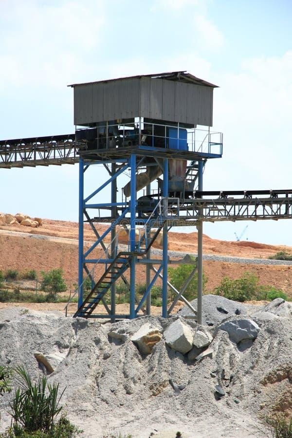 Bergbauförderanlagen lizenzfreie stockbilder