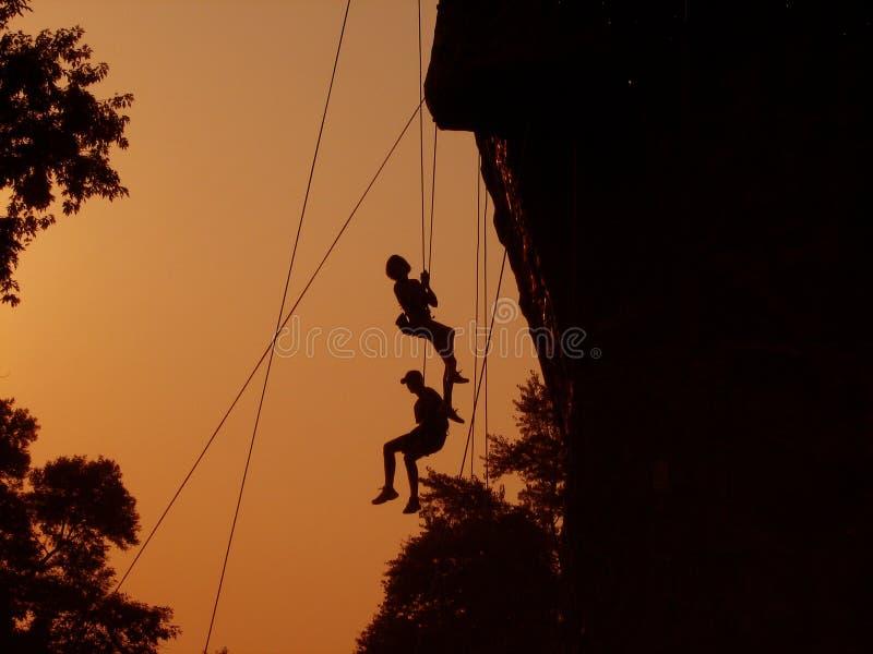 Bergbeklimmers stock foto