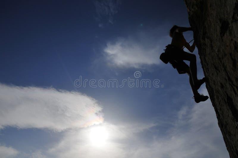 Bergbeklimming in de Krim, de Oekraïne stock foto