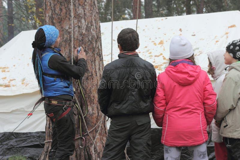 Bergbeklimming opleiding royalty-vrije stock fotografie