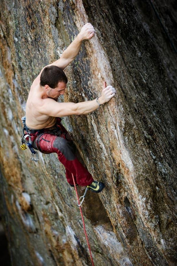 Bergbeklimming - Risico stock foto's