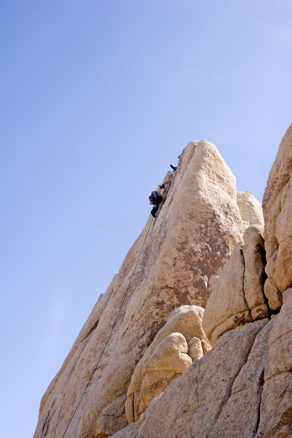Bergbeklimming in zuidelijk Californië royalty-vrije stock foto