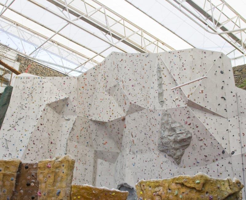 Bergbeklimmingsmuur royalty-vrije stock foto