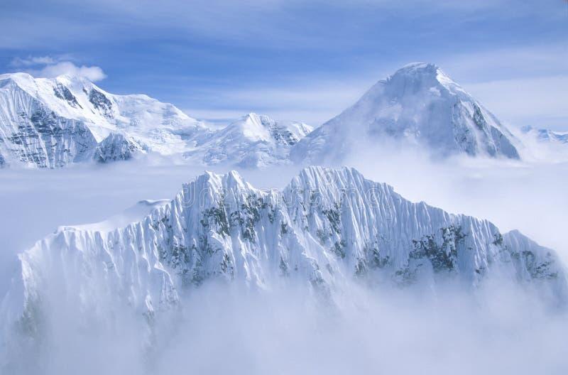 Bergblast i St Elias National Park och sylt, Wrangell berg, Wrangell, Alaska royaltyfri foto