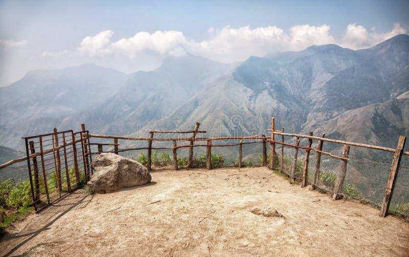 Bergblick in Indien stockbilder