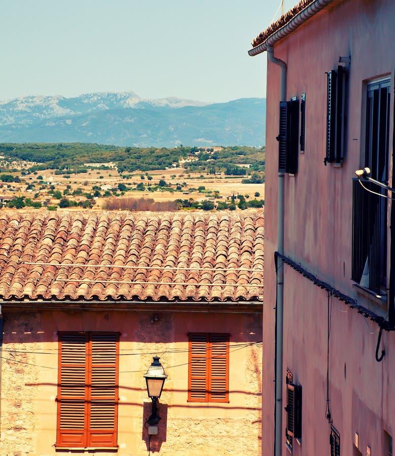 Bergby Montuiri i Majorca arkivbilder
