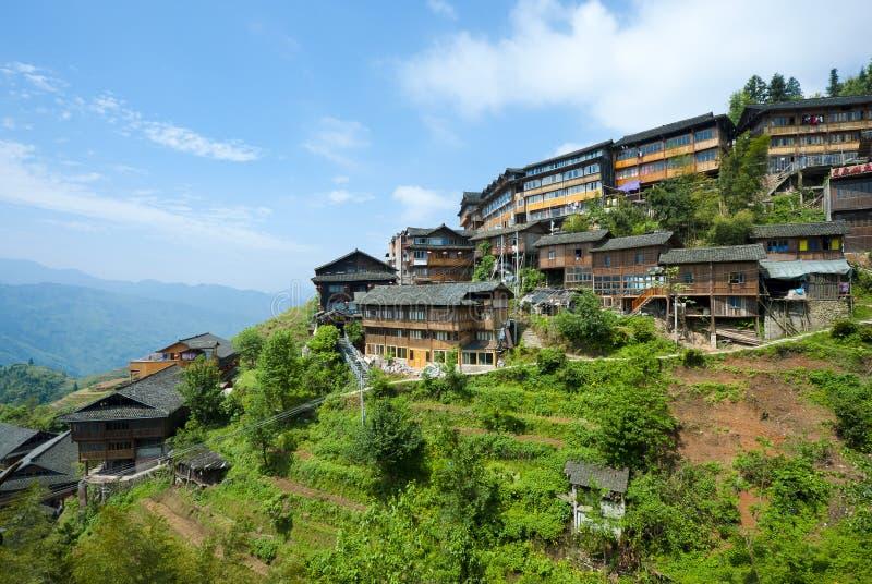 Bergdorf in China lizenzfreie stockfotos