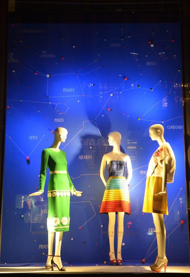 Bergdorf husfader i NYC arkivfoton