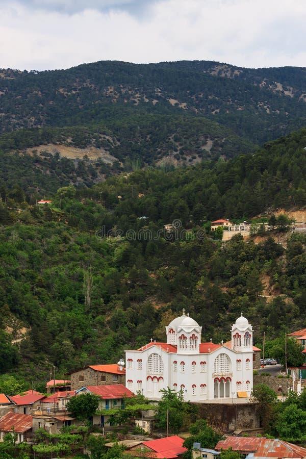 Bergdorp Pedoulas, Cyprus stock foto's