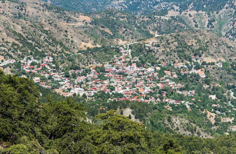 Bergdorp van Pedoulas, Cyprus royalty-vrije stock afbeelding
