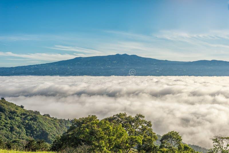 Berge über Wolken lizenzfreies stockfoto