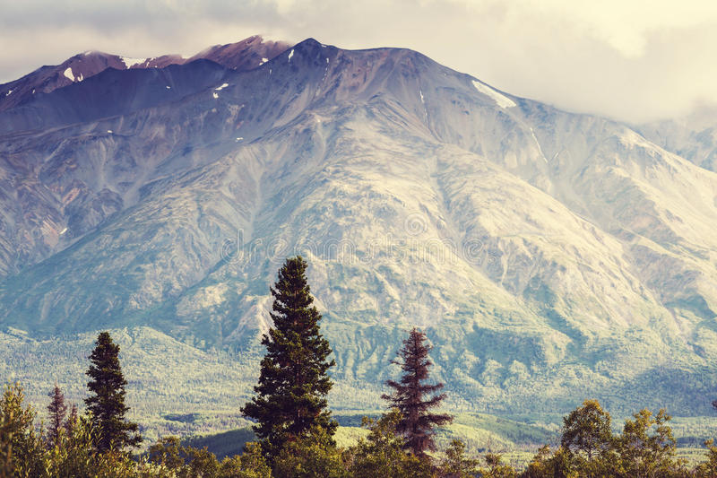Download Berge in Alaska stockfoto. Bild von küste, gebirgig, alaska - 90227656