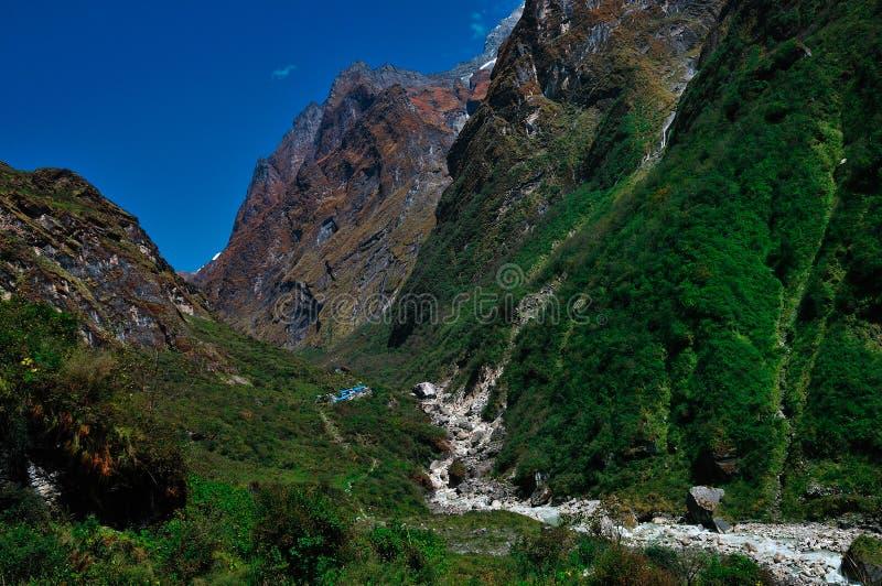 Berge, Annapurna Nepal lizenzfreies stockfoto