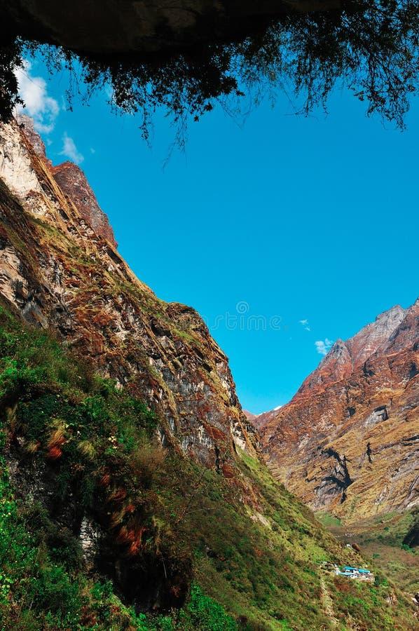 Berge, Annapurna Nepal stockfoto