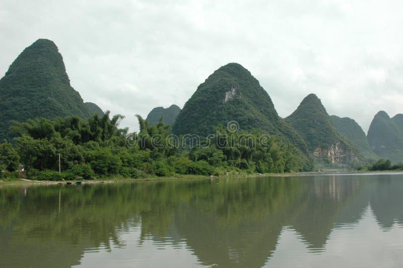 Berge in China stockbilder