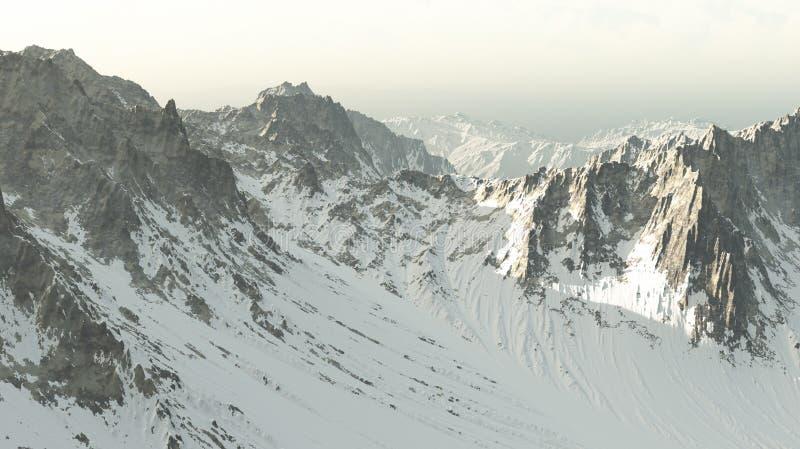 Berge 3D lizenzfreie stockfotos