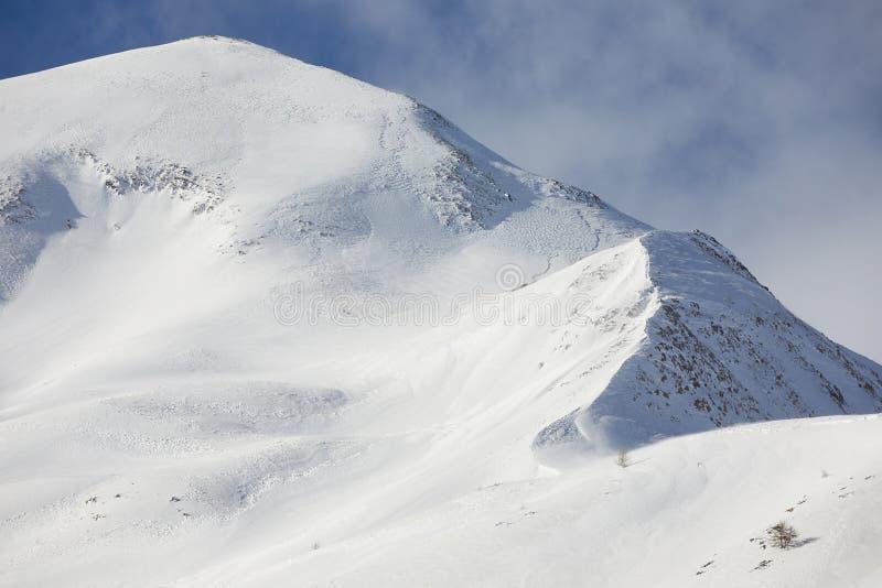 Berge in den Alpen stockbilder