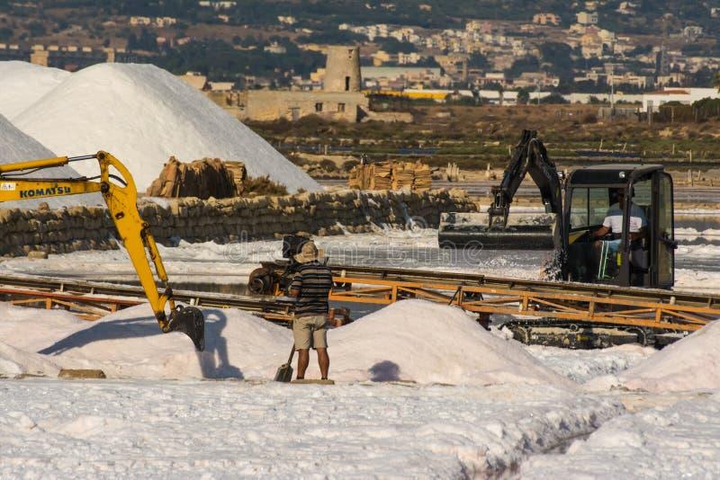 Berge des Salzes stockfotos