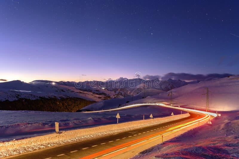 Berge in Grandvalira, Andorra stockfotografie