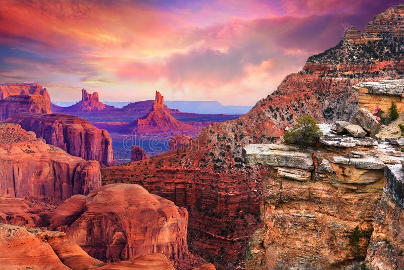 Berge im Nationalpark Arizona Grand Canyon s stockfoto