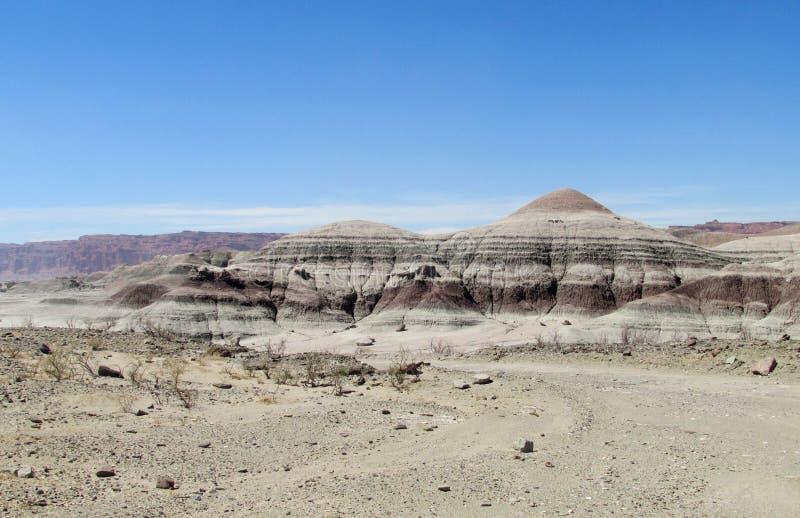 Berge in Ischigualasto, Valle-De-La Luna lizenzfreie stockfotografie