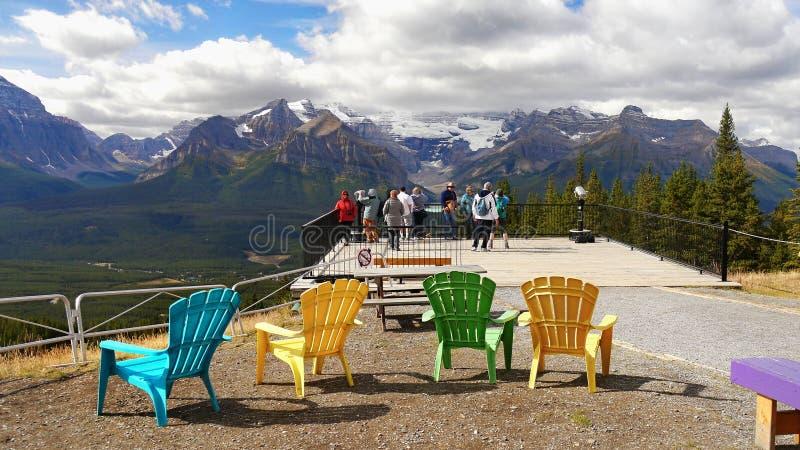 Berge Landschaft, Standpunkt, Nationalpark Banffs, Kanada stockbilder
