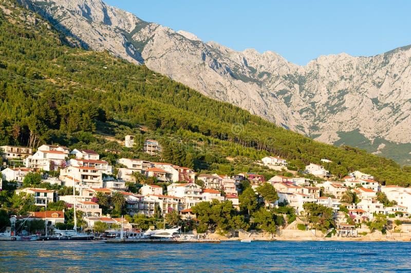 Berge in Makarska Riviera, Kroatien stockbilder