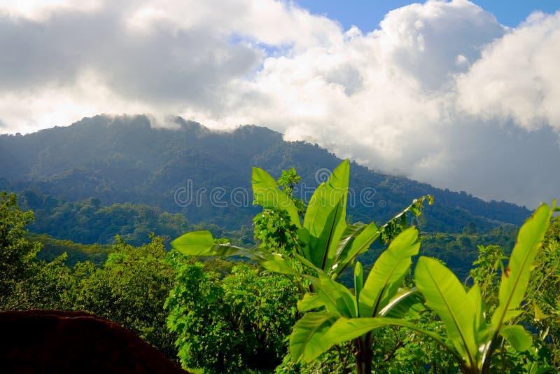 Berge in San Jose, Costa Rica stockfoto