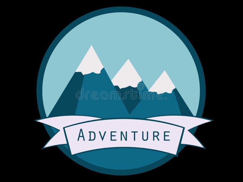 Berge Schneeberg, Berglandschaft Eine Reise zu den Bergen Vektor stock abbildung